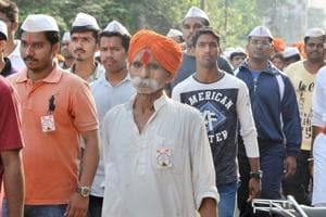 Sambhaji Bhide (orange turban) is accused of orchestrating the Bhima Koregaon violence which took place on January 1, 2018.