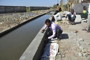 Following the first drowning incident itself, the corporation had started the construction of a boundary wall and also the cleaning of the drain