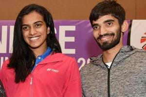 PVSindhu (L) and Kidambi Srikanth are expected to win big for India in badminton at the Commonwealth Games 2018.