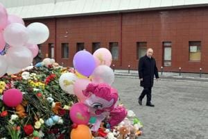 Russia's Putin says criminal negligence behind deadly mall fire