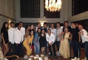 Guests, including Karan Johar and Siddharth Roy Kapur, at the pre-launch party of Soho House, Juhu.