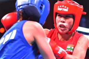 Mary Kom (R)will be leading the Indian boxing contingent at the Commonwealth Games 2018 in Gold Coast, Australia.