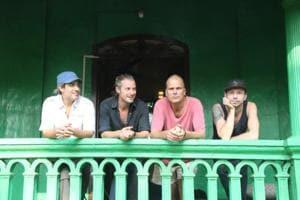 (L-R) Band members Bunny Batliwala, Spencer Maybe,  Peter Tegnér, and Denis Petukhov.