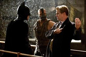 Christopher Nolan on the set of The Dark Knight Rises.