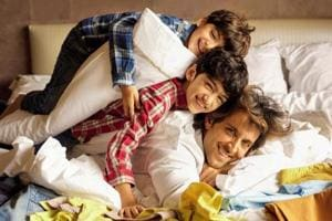 Hrithik Roshan with his two kids, Hrehaan and Hridhaan.