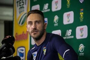 South Africa captain Faf du Plessis offered support to former...