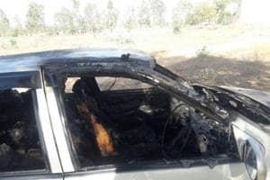 Victim Subeh Singh was in the driver's seat and was talking on the phone when the car caught fire.