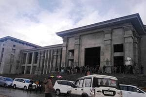 A view of Uttarakhand assembly building in Gairsain.