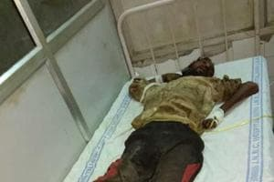 Video of patient with hands and legs tied in Aligarh hospital goes...