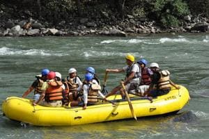 The adventure sport is held on the Sutlej and Pabbar rivers at Tattapani, Sunni and Rohru in Shimla district, on the Beas in Kullu, the Ravi in Chamba and Chandra in Lahaul