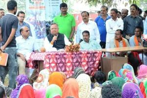 More than 200 tribals of Singari village in Kabirdham district of Chhattisgarh had gathered at the chaupal, some out of curiosity to see chief minister Raman Singh for the first time, and some to air their grievances.