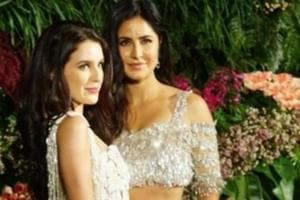 Katrina Kaif poses with sister Isabelle in wedding dresses for...