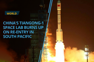 A defunct Chinese space lab, Tiangong-1,  disintegrated under intense...