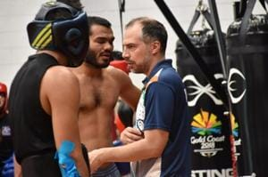 Indian boxing men's team coach Santiago Nieva (right) is facing the heat for the needle incident at Commonwealth Games 2018.