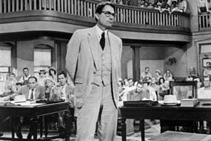 Gregory Peck as Atticus Finch in the movie adaptation (1962) of Harper Lee's Pulitzer Prize winning novel To Kill a Mockingbird.