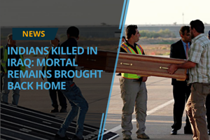 The mortal remains of 38 of the 39 Indian workers killed in Iraq were...