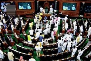 Parliament live: Budget session resumes, Congress issues three-line...