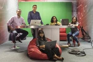 The team behind Boomlive, an independent digital journalism initiative aimed at busting fake news, at their office in Mumbai.