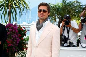 Brad Pitt wears a blush coloured suit at the Cannes Film Festival in 2009. (File AFP Photo)