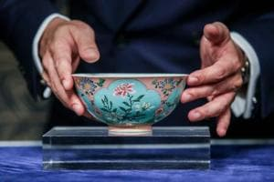 This rare Qing Dynasty bowl sells for $30.4 million at an auction by...