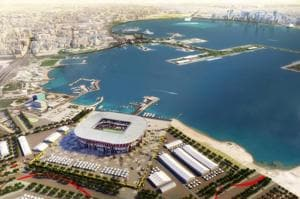 The Al Wakrah and Al-Rayyan stadia in the suburbs of Doha, and the...