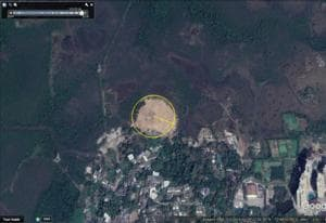 A satellite image taken this year shows the lost mangrove cover in Charkop