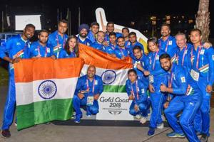 The Indian contingent during the country