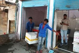 the Municipal Corporation of Gurugram (MCG) sealed 24  such shops in its first drive on Wednesday.