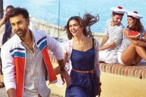 Deepika Padukone and Ranbir Kapoor from a scene from their film, Tamasha.