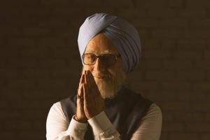Anupam Kher as Dr Manmohan Singh in The Accidental Prime Minister.