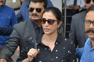 Fan misbehaves with Tabu at airport as she arrives in Jodhpur for...