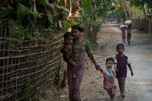 With the Rohingya purged from their villages, the Myanmar government,...