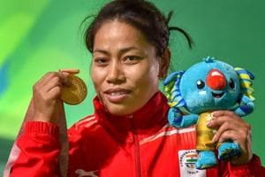 Sanjita Chanu relieved after proving critics wrong with gold at 2018...