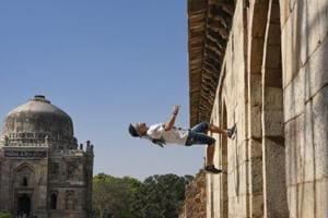 Photos: Free Run Gaza hop, flip and scale through Delhi on a parkour...