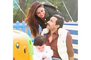 Saif Ali Khan enjoys pool date with Kareena, Taimur two days after...