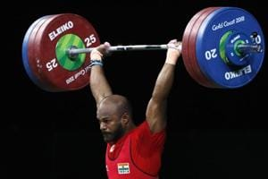 Sathish Kumar Sivalingam of India lifts his way to gold in the 77kg weightlifting final at the 2018 Commonwealth Games (CWG 2018) in Gold Coast.