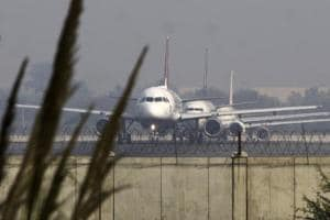 All passengers are safe, and six fire tenders rushed to the runway as a routine procedure, officials said.