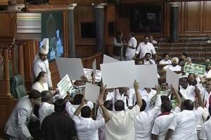 Photos: Marred by disruptions and protests, Parliament Budget session...