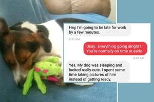 "Woman gets late to work because her dog was being ""really cute"", boss..."