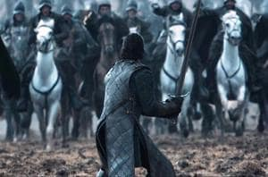 Kit Harrington in The Battle of Bastards, Game of Thrones, season 6.