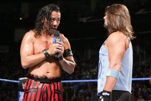 The rivalry between Shinsuke Nakamura (L) and AJ Styles has featured plenty of mind games but very little acrimony between the two superstars.