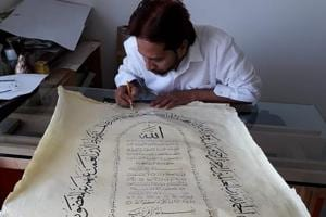 This Indian calligrapher is on a mission to revive Arabic calligraphy