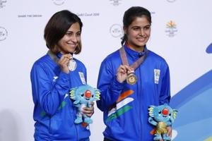 Manu Bhaker wins shooting gold, Heena Sidhu silver at 2018...