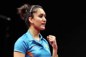 Manika Batra defeated world No. 4 Feng Tianwei en route to helping India defeat Singapore for gold medal at the Commonwealth Games 2018 in Gold Coast.