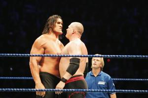 The Great Khali (L) was the most prominent Indian to be part of the WWE.