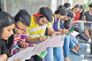While the pen and paper format of JEE-Main was conducted on Sunday, the computer format exam will take place on April 14-15 for which 2.4 lakh students have registered.