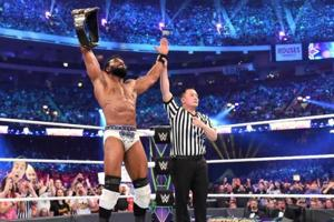 Jinder Mahal pinned Rusev to win the WWE United States title at WrestleMania 34.
