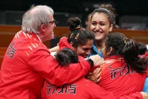 India won gold after upsetting Singapore 3-1 in the women's table...