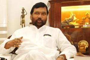 Union minister Ram Vilas Paswan at his residence in New Delhi. Pawan rejected the argument that there was discord brewing within the National Democratic Alliance.