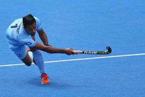Harmanpreet Singh scored two penalty corners as Indian men's hockey team booked a semi-final spot with the win against Malaysia in the 2018 Commonwealth Games (CWG 2018) in Gold Coast.